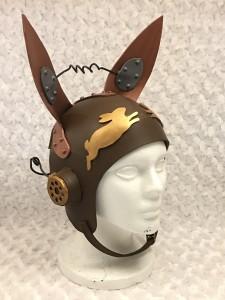 steampunk bunny aviator cap
